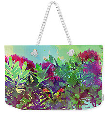 Weekender Tote Bag featuring the painting Pohutakawa Tree by Jocelyn Friis