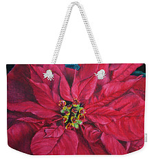 Poinsettia II Painting Weekender Tote Bag by Marna Edwards Flavell