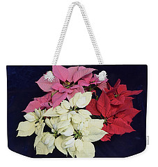 Poinsettia Tricolor Weekender Tote Bag