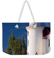 Point Betsie Lighthouse Michigan Weekender Tote Bag by Adam Romanowicz