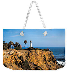 Weekender Tote Bag featuring the photograph Point Vicente Lighthouse by Eleanor Abramson