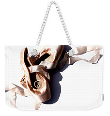 Pointe Shoes Weekender Tote Bag by Tracy Male
