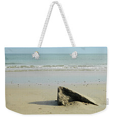 Pointed Rock At Squibby Weekender Tote Bag by Kathy Barney