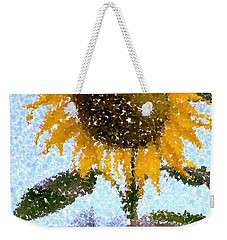 Pointillist Sunflower In Sun City Weekender Tote Bag