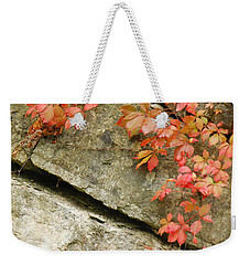 Weekender Tote Bag featuring the photograph Poison Ivy by Mary Carol Story