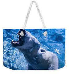 Polar Bear Weekender Tote Bag by Chris Flees