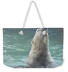 Polar Bear Jumping Out Of The Water Weekender Tote Bag
