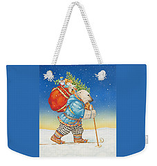 Polar Bear Santa Claus Weekender Tote Bag