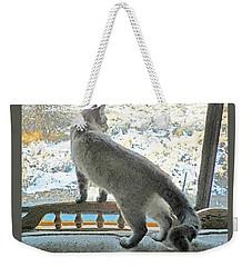 Pawli Surveys His Domain Weekender Tote Bag by Lenore Senior and Dawn Senior-Trask
