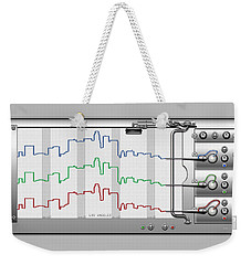 Polygraphs - Citypulse - Los Angeles Skyline  Weekender Tote Bag by Serge Averbukh