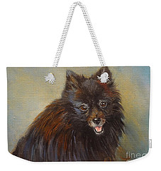 Pomeranian Weekender Tote Bag by Jenny Lee