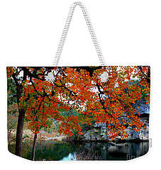 Fall At Lost Maples State Natural Area Weekender Tote Bag