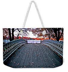 Pond Footbridge Weekender Tote Bag