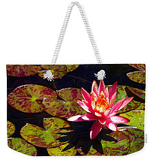 Pond Lily Weekender Tote Bag by Nick Kloepping