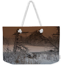 Weekender Tote Bag featuring the photograph Pond Scape by Mim White