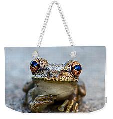 Pondering Frog Weekender Tote Bag by Laura Fasulo