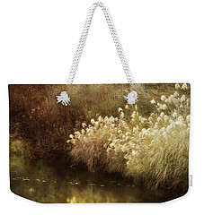 Weekender Tote Bag featuring the photograph Pond's Edge by Julie Palencia