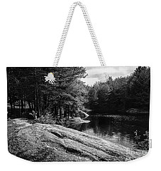 Weekender Tote Bag featuring the photograph Pondside by Mark Myhaver