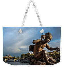 Weekender Tote Bag featuring the photograph Pont Alexandre IIi by Glenn DiPaola