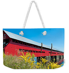 Weekender Tote Bag featuring the photograph Pont Marchand by Bianca Nadeau