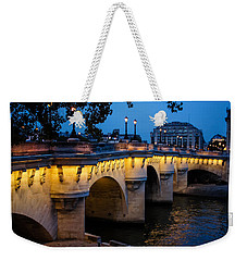 Pont Neuf Bridge - Paris France I Weekender Tote Bag by Georgia Mizuleva
