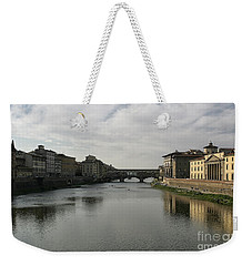 Weekender Tote Bag featuring the photograph Ponte Vecchio by Belinda Greb