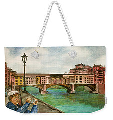 Ponte Vecchio Florence Italy Weekender Tote Bag by Frank Hunter
