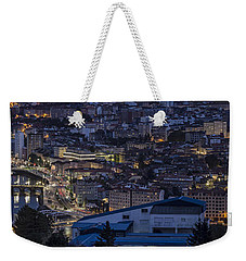 Weekender Tote Bag featuring the photograph Pontevedra Panorama From A Caeira by Pablo Avanzini