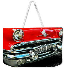 Weekender Tote Bag featuring the photograph Pontiac Grill by Victor Montgomery