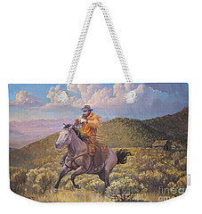 Pony Express Rider At Look Out Pass Weekender Tote Bag