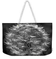 Weekender Tote Bag featuring the photograph Poof - Black And White by Joseph Skompski