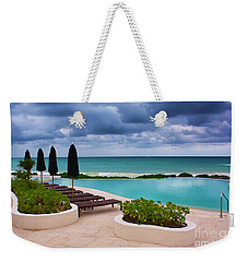 Pool At Rosewood Mayakoba Weekender Tote Bag by Teresa Zieba