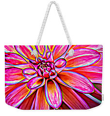 Pop Art Dahlia Weekender Tote Bag