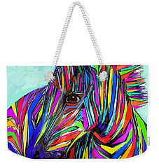 Pop Art Zebra Weekender Tote Bag by Jane Schnetlage