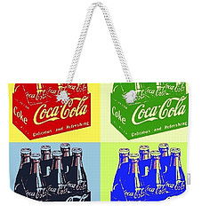 Weekender Tote Bag featuring the photograph Pop Coke by The Art of Alice Terrill