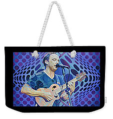 Weekender Tote Bag featuring the drawing Pop-op Full Band by Joshua Morton