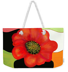 Pop Poppy Weekender Tote Bag