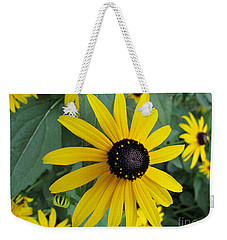 Pop Yellow Weekender Tote Bag by Arlene Carmel