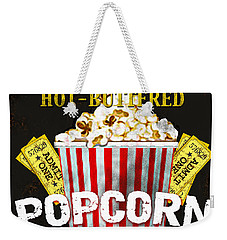 Popcorn Please Weekender Tote Bag by Jean Plout