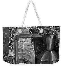 Popcorn Sutton - Black And White - Legendary Weekender Tote Bag