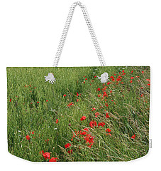 Red Poppies And Cornfield Weekender Tote Bag by Phil Banks