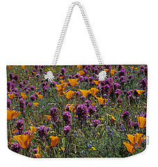 Poppies And Owl Clover Weekender Tote Bag by Susan Rovira