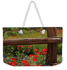Poppies At The Farm Weekender Tote Bag