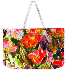 Poppies Weekender Tote Bag by Beth Saffer