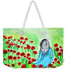 Poppies Field Illusion Weekender Tote Bag