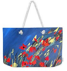 Poppies Field On A Windy Day Weekender Tote Bag