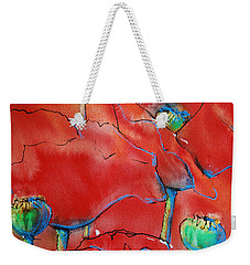 Weekender Tote Bag featuring the painting Poppies II by Jani Freimann