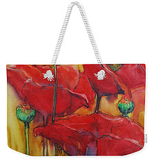 Weekender Tote Bag featuring the painting Poppies IIi by Jani Freimann