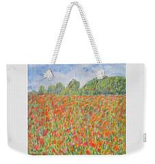 Poppies In A Field In Afghanistan Weekender Tote Bag