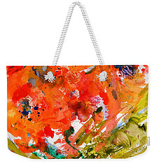 Poppies In A Hurricane Weekender Tote Bag by Beverley Harper Tinsley